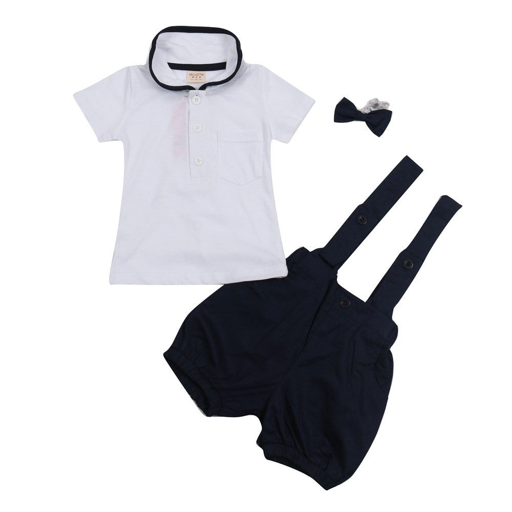 Lovely Short Sleeve Gentleman Set