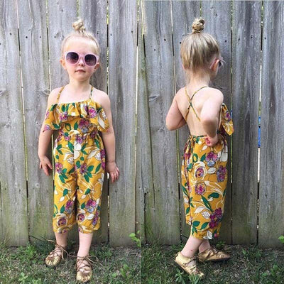 Floral Style | Cute Backless Jumpsuit