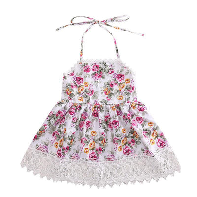 Adorable Backless Floral Summer Dress