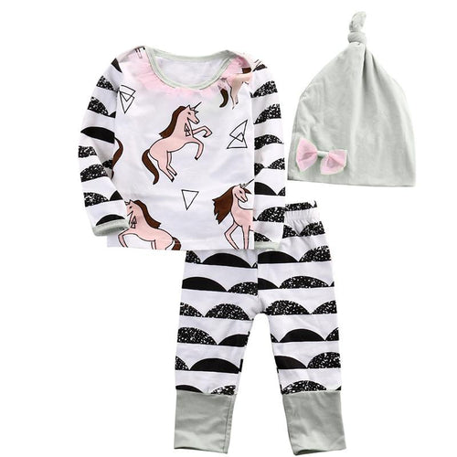 Adorable Unicorn Printed Set 3Pcs