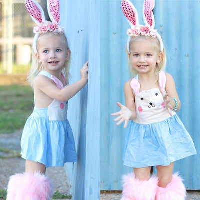 Cute Sleeveless Bunny Dress