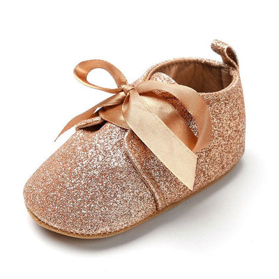 Adorable Sparkling Bowknot Moccasins