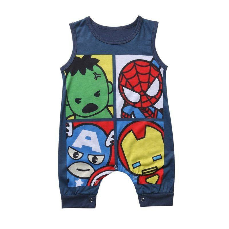 Cute Superhero Sleeveless Jumpsuit