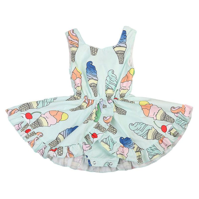 Sweet Ice Cream Sleeveless Dress