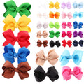 Colorful Bowknot Hair Clips Set 20Pcs