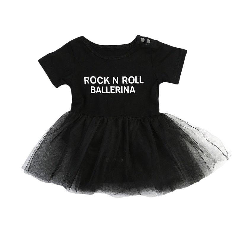 Cute Black Rock N' Roll Dress