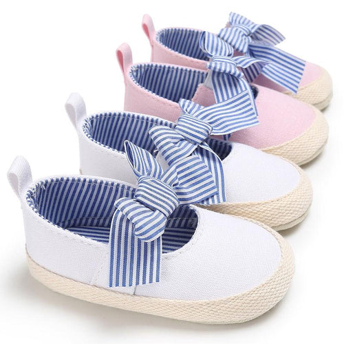 Cute Striped Bowknot Pre-Walkers