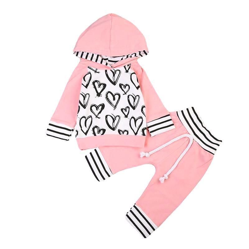 Adorable Hooded Heart Design Set