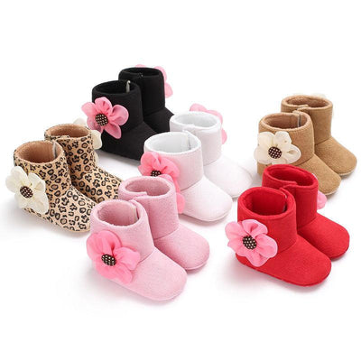 Soft & Warm Floral Boots