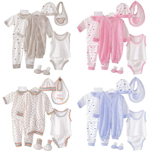 Casual Delicate 8 Pcs Newborn Sets