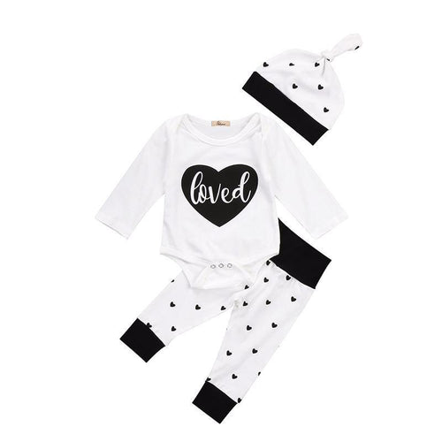 Adorable Black & White Design Set 3Pcs