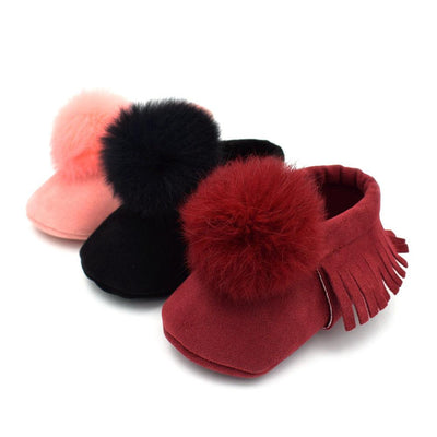 Sweet Fur Ball Moccasins