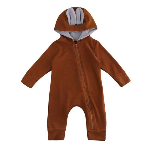 Soft Hooded Deer Jumpsuit