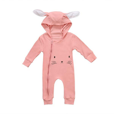 Lovely Hooded Bunny Jumpsuits