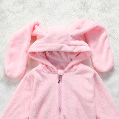 Lovely & Soft Big Bunny Ears Jumpsuit