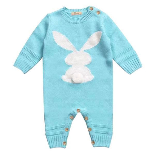 Warm & Cozy Knitted Bunny Outfit
