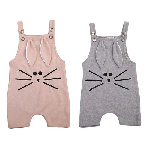 Adorable Sleeveless Bunny Rompers