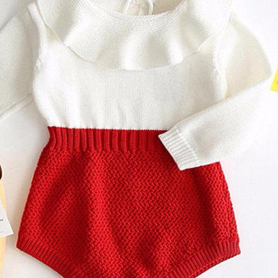 Warm & Delicate Red Knitted Outfit
