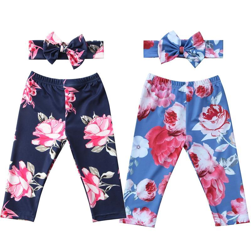 Lovely Floral Pants + Headband