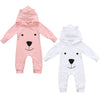 Cute Hooded Baby Bear Jumpsuits