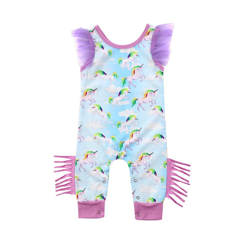 Colorful Fashion Unicorn Jumpsuit