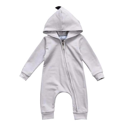 Adorable Hooded Dinosaur Jumpsuit