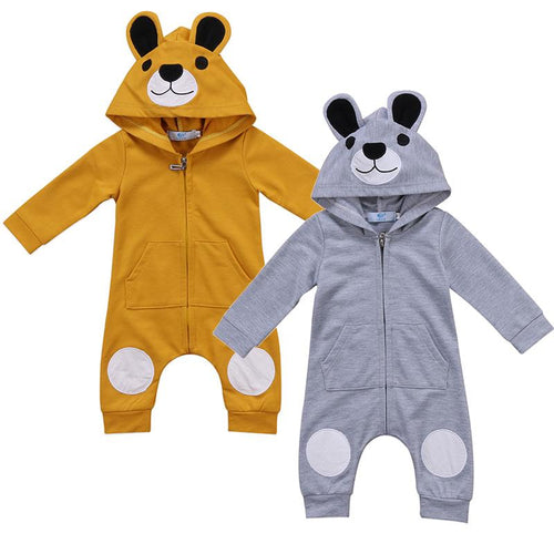Cute Hooded Teddy Bear Jumpsuit