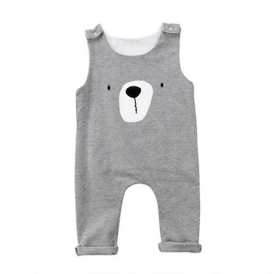 Sleeveless Teddy Bear Jumpsuit