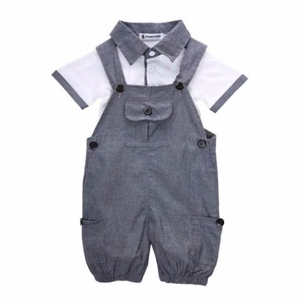 Denim Overalls & Gentlemen Polo Shirt