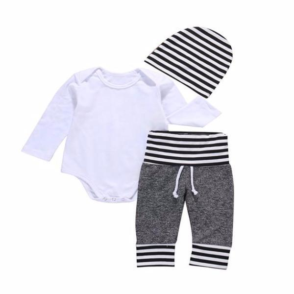 Casual Delicate Striped Set 3Pcs