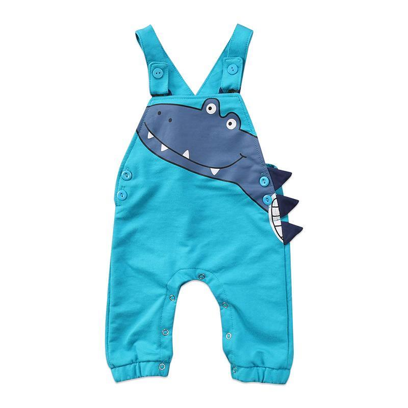 Sleeveless Dinosaur Jumpsuit