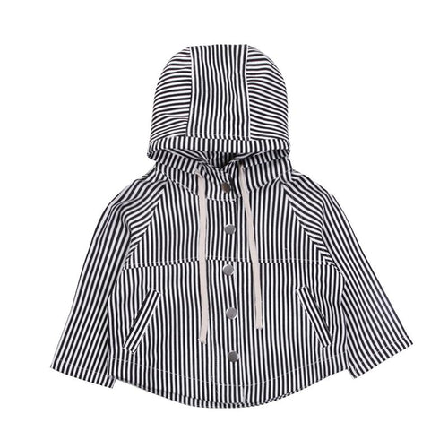 Cute Striped Hooded Coat