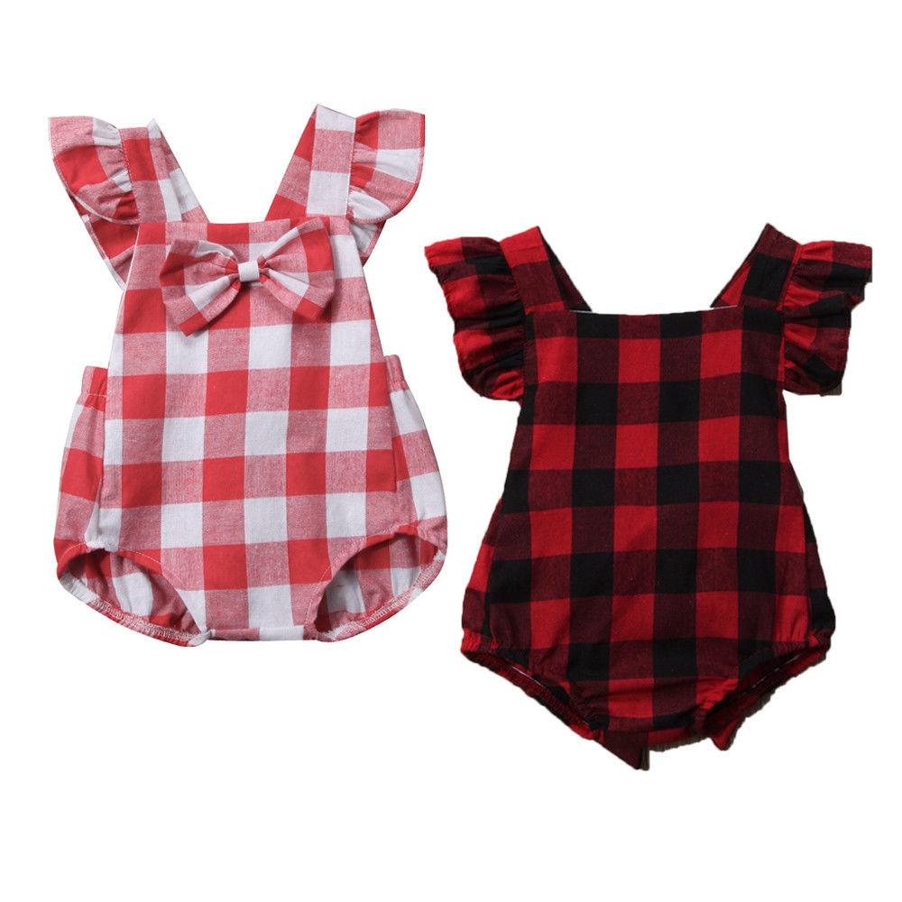 Cute Plaid Backless Bodysuits