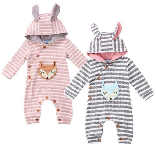 Cute & Warm Hooded Fox Jumpsuit
