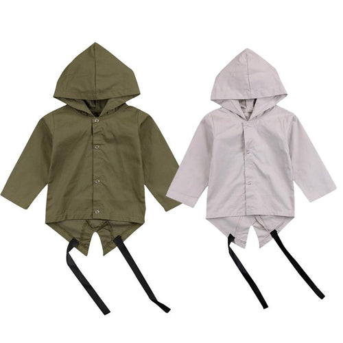 Hooded Wind Blocker Coat