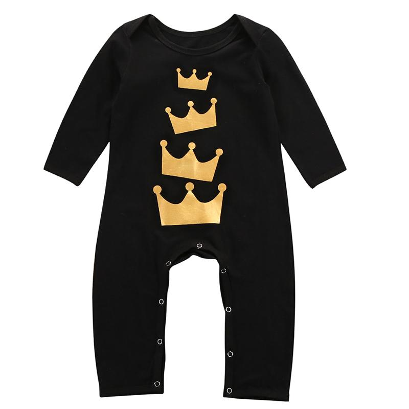 Black Little Crown Jumpsuit