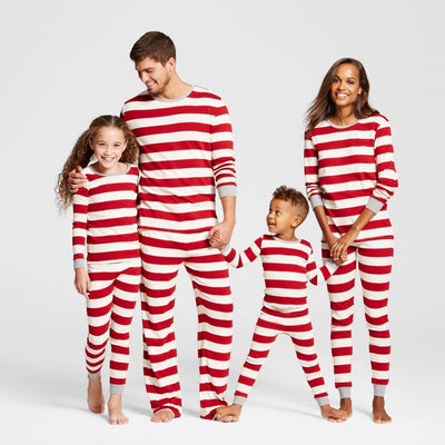 Family Matching Striped Christmas Pajamas