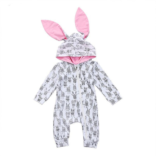 Cute Big Ears Hooded Bunny Jumpsuit
