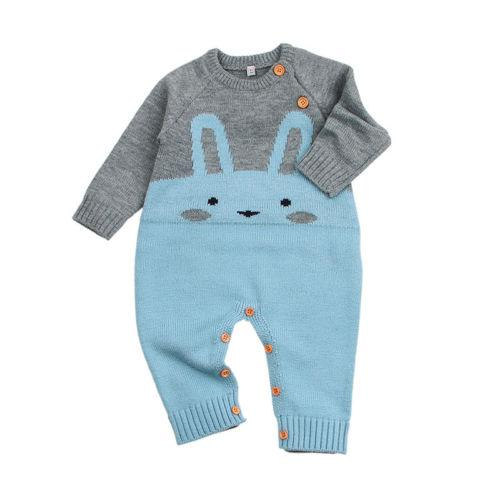 Lovely Knitted Bunny Jumpsuit