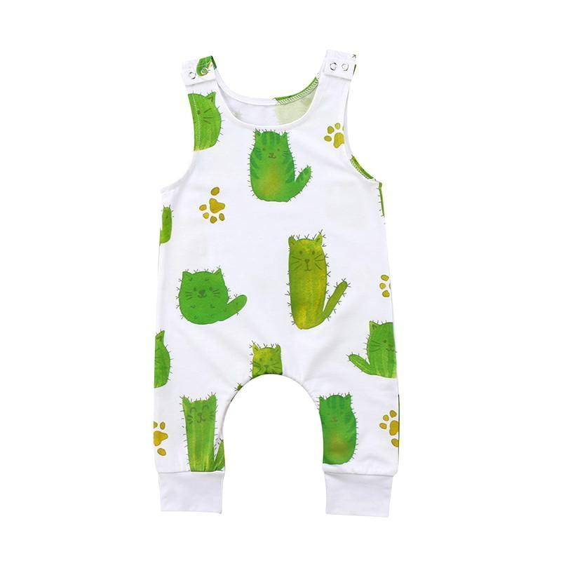 Cute Kitty Cactus Jumpsuit