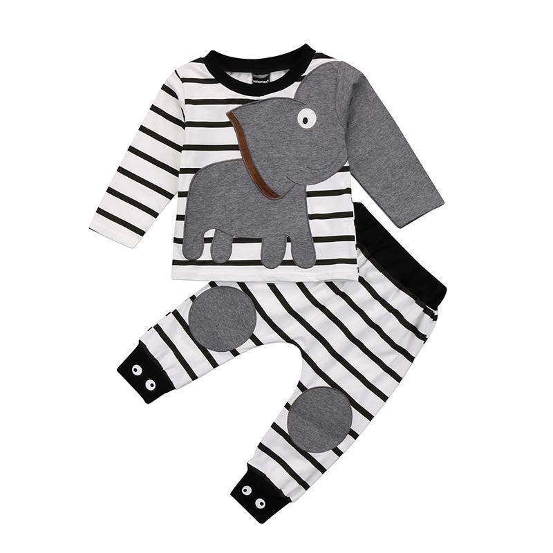 Adorable Striped Elephant Outfit
