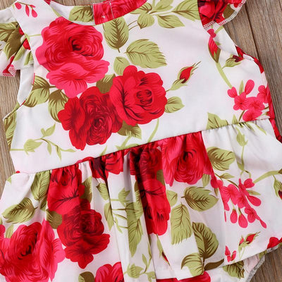 Lovely Floral Skirted Bodysuit