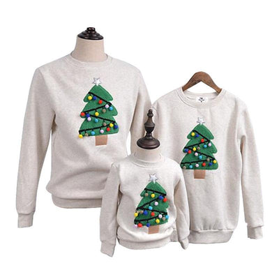 Family Matching Christmas Tree Sweaters