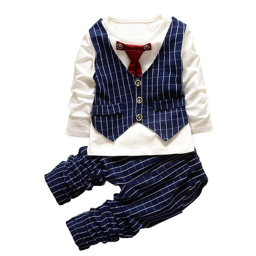 Adorable Striped Little Gentleman Set