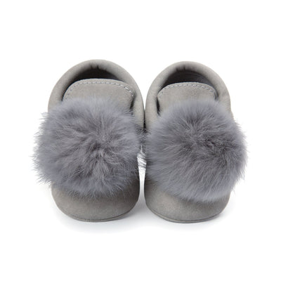 Adorable Fur Ball Moccasins