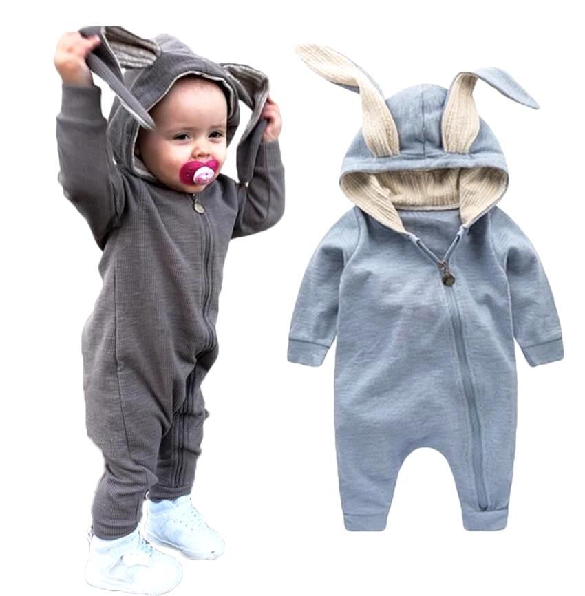 Delicate Hooded Bunny Jumpsuit