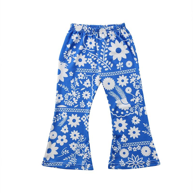 Floral Fashion Flared Pants
