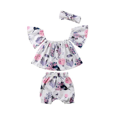 Lovely Floral Summer Set 3Pcs