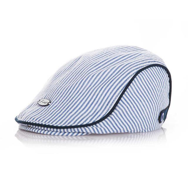 Adorable Striped Little Gentleman Cap