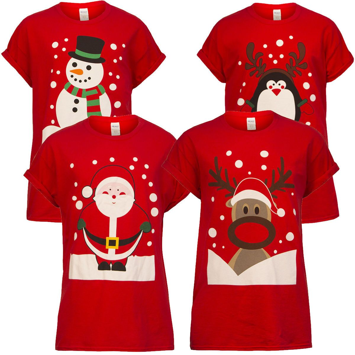 Warm Family Matching Christmas T-Shirts